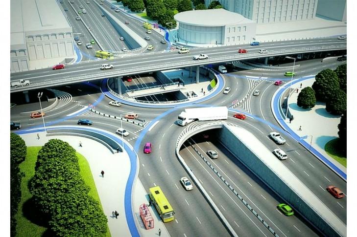 Поменять проект Шулявского моста на трех-уровневую развязку