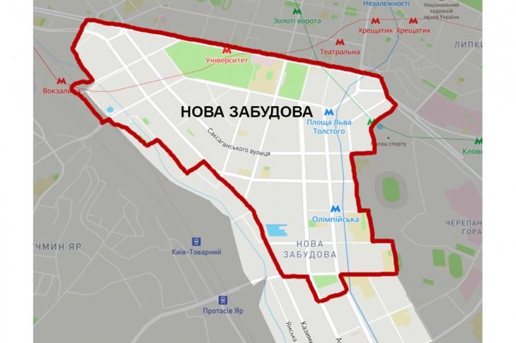 Кордони історичного району Нова забудова