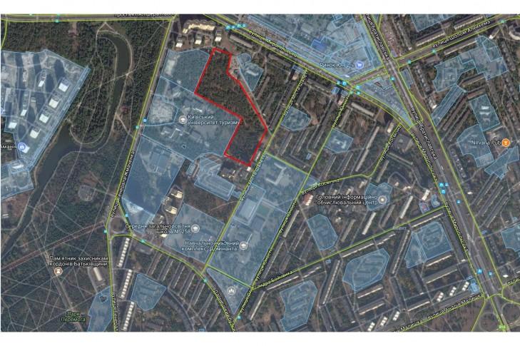 Схема розташування земельної ділянки зеленої зони