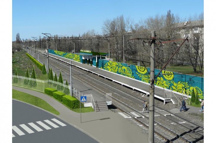 Станція міської електрички Київська Русанівка